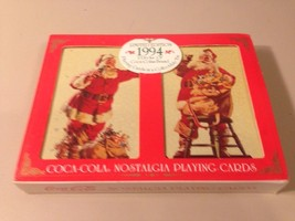 Vintage Coca Cola 1994 Limited Tin Christmas Holiday Santa Playing Cards... - $9.49