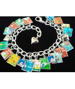 DR SEUSS Charm Bracelet 17 Classic Dr Seuss Book Covers Photo Charms, BE... - $27.99