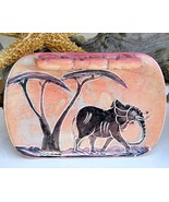 African_soapstone_kenya_coin_change_dish_elephant_carved_pink_thumbtall