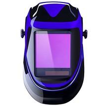 Solar Powered Welding Helmet Auto Darkening Professional Hood with Wide ... - $73.56
