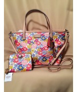 NWT Coach Hadley Metro Floral Print Tote/ Crossbody Style #29962 & Matching Wall - $235.00