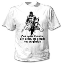 Knight Templar Crusader   New Amazing Graphic White T Shirt Xx Large Size - $22.49