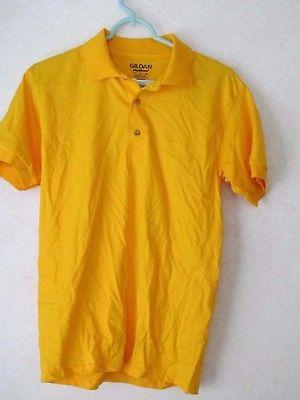 Gildan Activewear Ultrablend Heavyweight adult L large mens Blue polo shirt NOS
