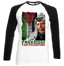 ARAFAT LEADER FREEDOM FOR PALESTINE 1- New Graphic Black Sleeved Basebal... - $23.99