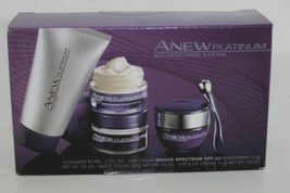 Avon Women Anew Platinum Recontouring System Facial Set Face Neck Wrinkle/Lines - $47.23