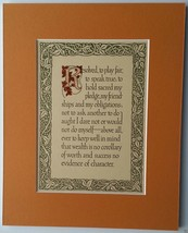 """""""Resolved, to play fair...""""  1912 Caterbury Catchwords Saying -  Newly M... - $10.00"""
