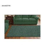 Shag Area  Dorm Room Rugs Soft 8x 10 Modern Moss green  New!!! - $161.09