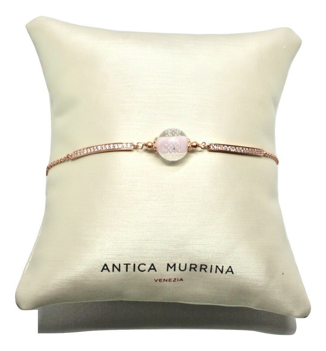 Armband Antica Murrina Venezia 925 Silber und Glas Murano AMVJWBT009C03