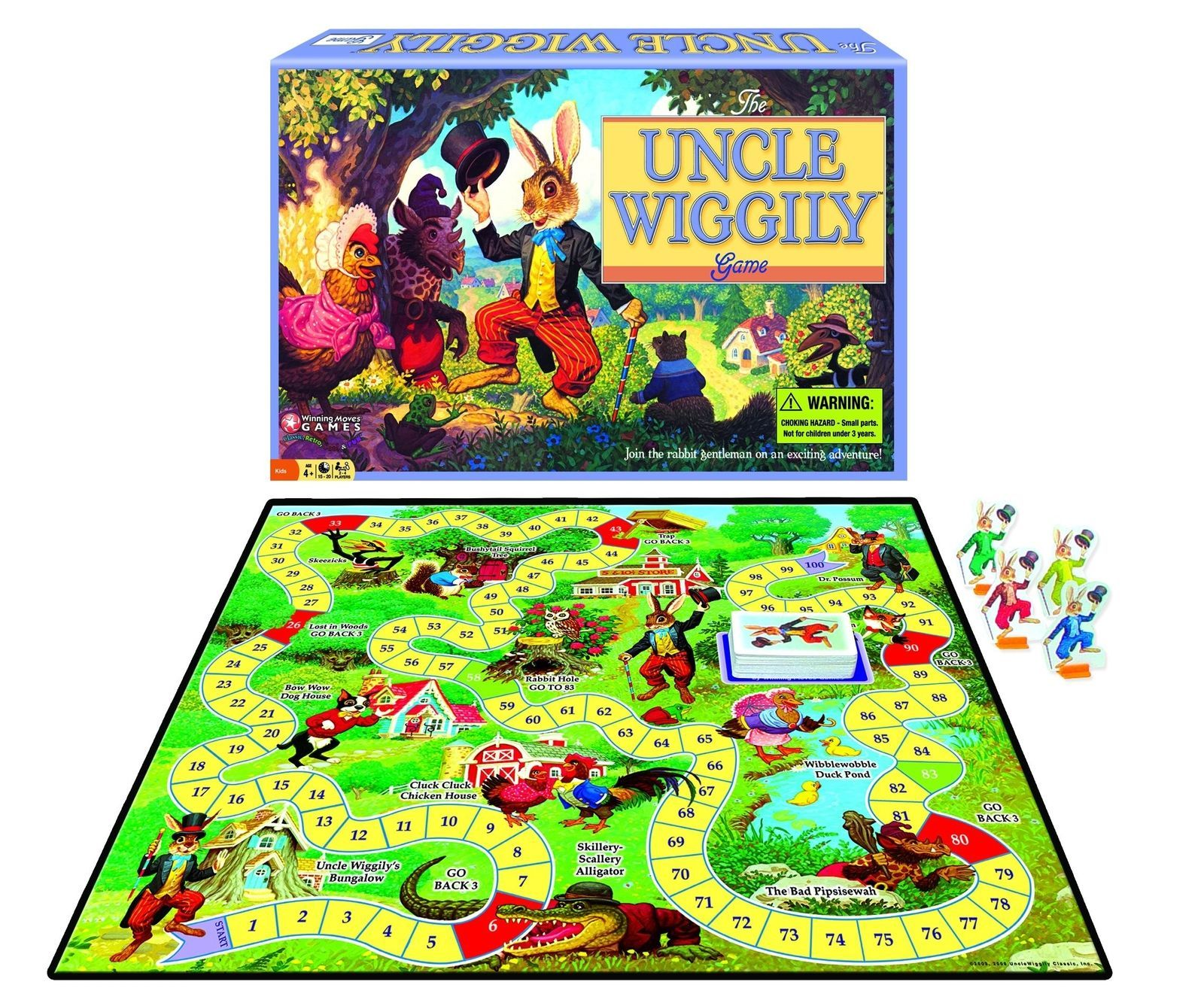 Uncle Wiggly Board Game [New] Family Fun