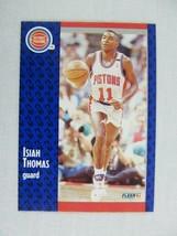 Isiah Thomas Detroit Pistons 1991 Fleer Basketball Card 64 - $0.98