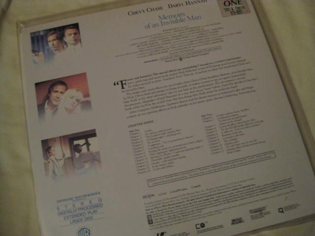 LaserDisc - MEMOIRS OF AN INVISIBLE MAN