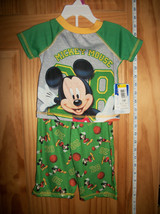 Disney Baby Clothes 12M Mickey Mouse Pajama Outfit PJ Infant Sleepwear P... - $12.34