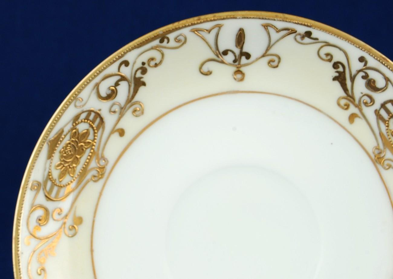 Noritake 175 / 16034 5-1/2-inch Saucer Gold Christmas Ball Vintage China