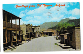 AZ Greetings Old Tucson Movie Studio Theme Park Main Street Vtg Postcard... - $5.52