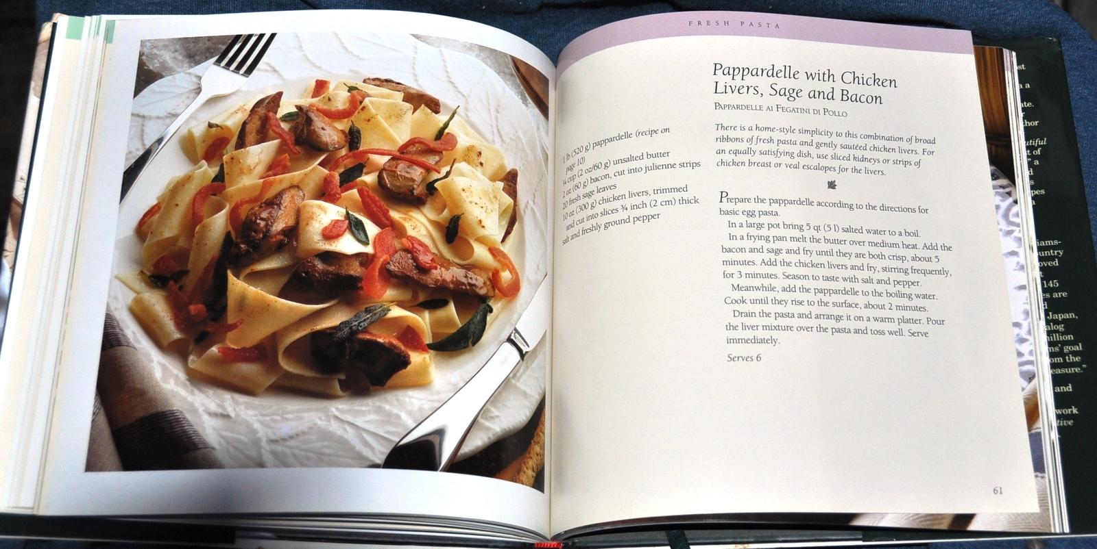 Pasta Recipe Cookbook from the Williams-Sonoma Kitchen Library