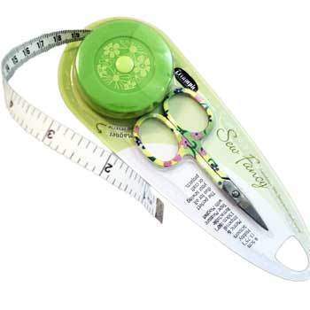 Primary image for Green Embroidery Scissors & Tape Measure Set sewing tool set