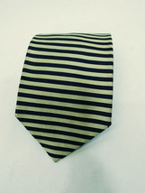 Brooks Brothers Makers Tie Yellow and Black Striped 100% Silk Mens Neck Tie - $13.85