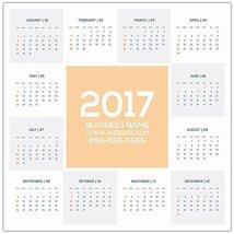 2017 Custom Calendar Poster - School Business Wall Calendar - $268,71 MXN