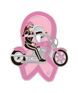 Pink Ribbon Motorcycle Lady Lapel Pin Biker Spo... - $10.97