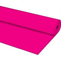 "40""x100 ft HOT PINK Heavy Duty Banquet Roll Plastic Table Cloth - $15.99"
