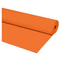 "40""x100 ft ORANGE Heavy Duty Banquet Roll Plastic Table Cloth - $15.99"