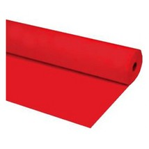 "40""x100 ft RED Heavy Duty Banquet Roll Plastic Table Cloth - $15.99"