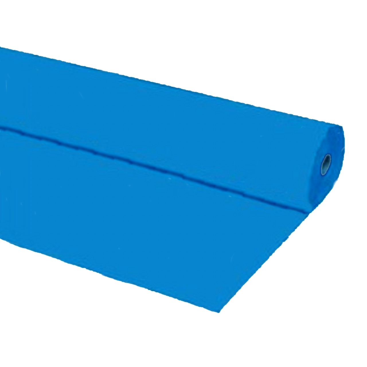 "Primary image for 40""x150 ft BLUE Heavy Duty Banquet Roll Plastic Table Cloth"
