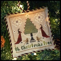Oh Christmas Tree #2 Sampler Tree Ornament cross stitch Little House Nee... - $5.40