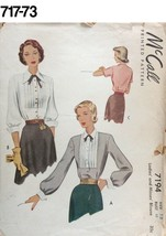 VTG Sewing Pattern McCall #7194 Size 12 Bust 32 Blouse 1950s - $14.51