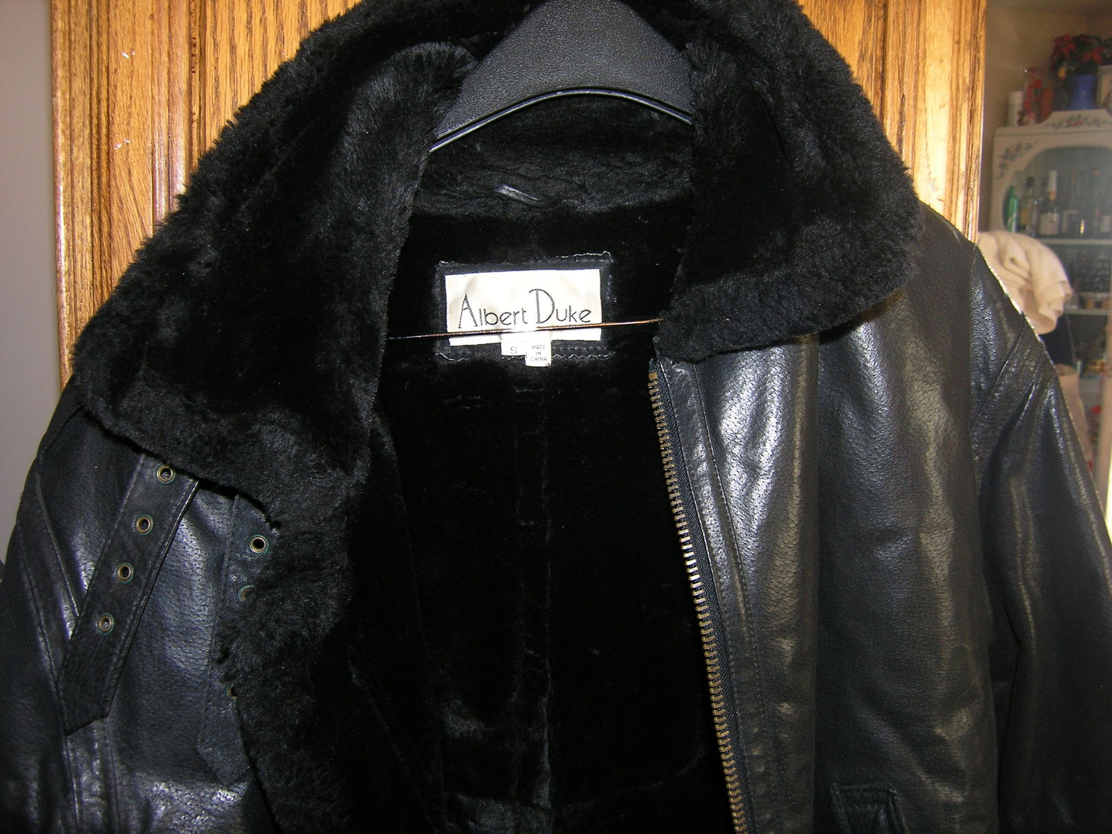 ladies albert duke winter leather jacket size small