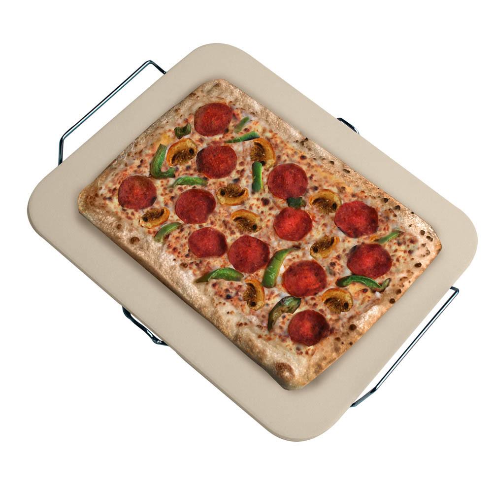 Ceramic Pizza Stone : Ceramic pizza stone high temperature base bakes crust
