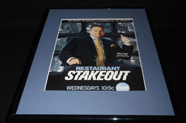 Restaurant Stakeout Framed 11x14 ORIGINAL Advertisement Food Network - $32.36