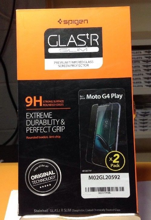 Lot Of 2 Spigen Screen Protector 2-Pack for Moto G4 Play