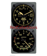 New TRINTEC VINTAGE ALTIMETER & AIRSPEED Clock & Thermometer 2pc Console... - $61.13