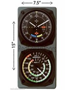 New TRINTEC VOR GLIDESCOPE Wall Clock with AIRSPEED Thermometer Console Set - $61.13