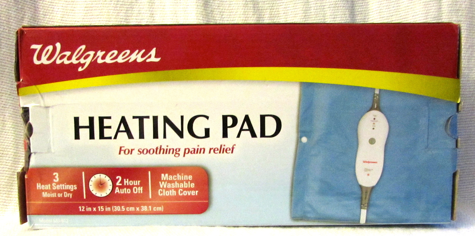 Moist or Dry Heating Pad by Walgreens 12 x 15