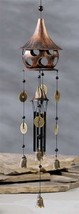 "32"" Zen Asian Style Birdhouse and Bell Windchime Metal NEW"