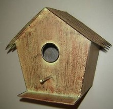 Metal Natural Look Bird House w perch and ledge New image 2