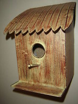 Metal Natural Look Bird House w perch and ledge  image 2