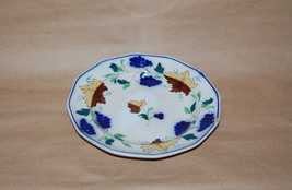 Antique English Pearlware Prattware Blue Grape Brown Leaf Pottery Plate AS IS - $125.00