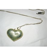 """Puff Heart sterling 925 large engraved pendant 32"""" box chain necklace 9.2 g - $30.86"""