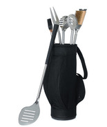 5 Piece BBQ Tool Set in Golf Bag Grilling Grill Wedding Father's Day Gif... - $49.98
