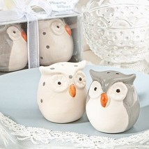 1 Cute Owl Salt Pepper Shakers Set Wedding Favor Party Event Sweet Recep... - $4.45