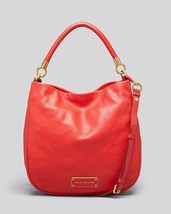 NWT MARC by MARC JACOBS Too Hot to Handle Leather Hobo Shoulder Bag RED ... - $338.00
