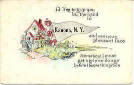 Greetings from Kanona New York 1932 Post Card - $3.00
