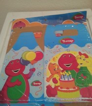 BARNEY party Boxes Gable decoration birthday x6 favors treats bags loots - $15.79
