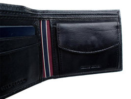 Tommy Hilfiger Men's Premium Leather Id Credit Card Coin Wallet Black 31Tl25X020 image 9