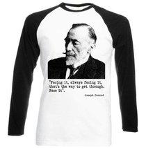 Conrad Joseph - Black Sleeved Baseball T-Shirt S [Apparel] - $23.99