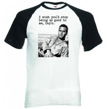 Cool Hand Luke Cult Movie -man - Black Sleeved Baseball T-Shirt S [Apparel] - $22.49