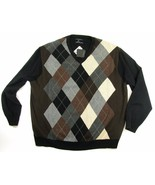 Castagne Cashmere Sweater New Men's Size 2XL Argyle V-Neck NWT Orig $299 - $49.99